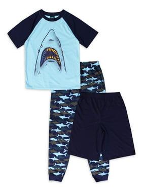 Jellifish Kids Boy's 3-Piece Pajama Sleep Set Sizes 4-16