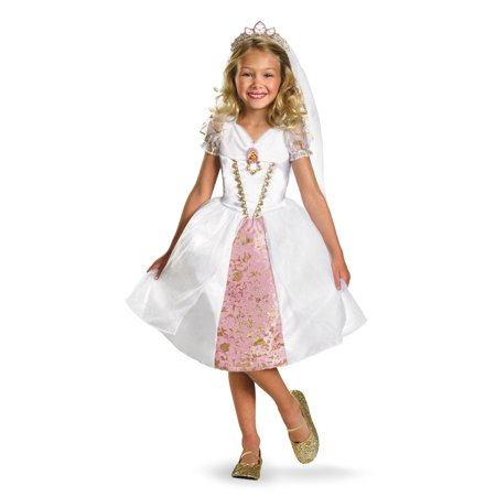 Disguise Kids Tangled Rapunzel Wedding Gown Girls Bride Halloween Costume - Dressed As A Girl For Halloween