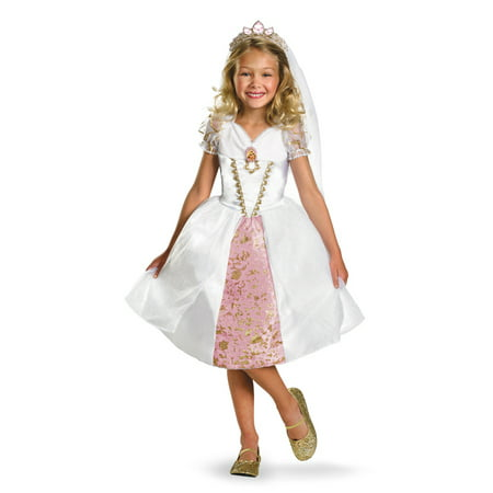 Disguise Kids Tangled Rapunzel Wedding Gown Girls Bride Halloween Costume](Halloween Disguise Ideas)