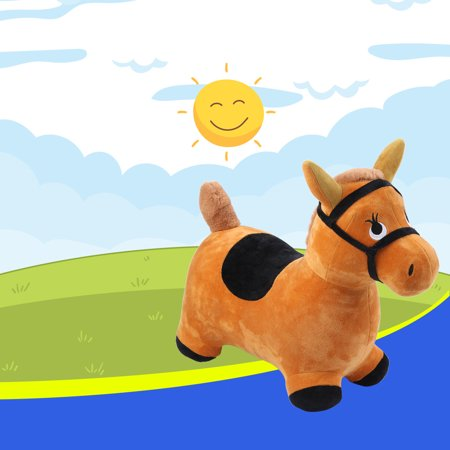 Hopping Horse Outdoors Ride On Bouncy Animal Play Toys