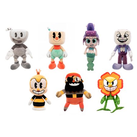 - Funko Collectible Plushies - Cuphead S2 - SET OF 7 (King Dice, Cuppet, Cagney, Rumor +3)