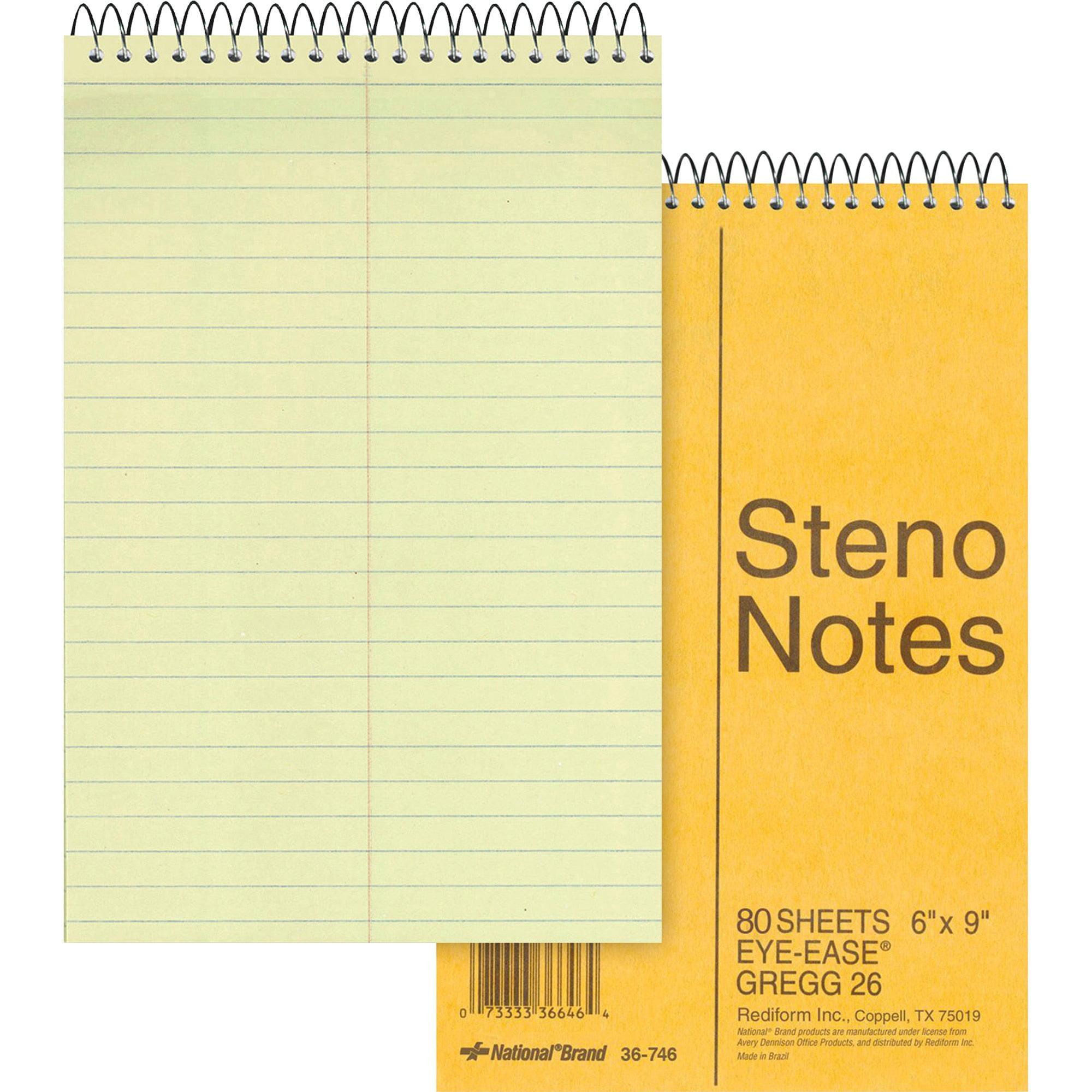 Rediform, RED36746, Eye-ease Steno Notebook, 1 Each