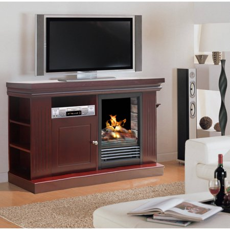 D;cor Flame Redwood 48″ Media Fireplace, for TVs up to 55″, Dark Walnut