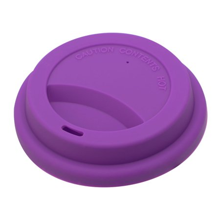 Home Purple Silicone Round Shaped Resuable Sealed Mug Lid Tea Coffee Cup Cover