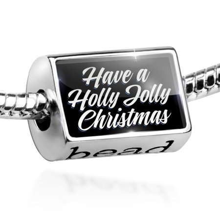 - Bead Classic design Have a Holly Jolly Christmas Charm Fits All European Bracelets