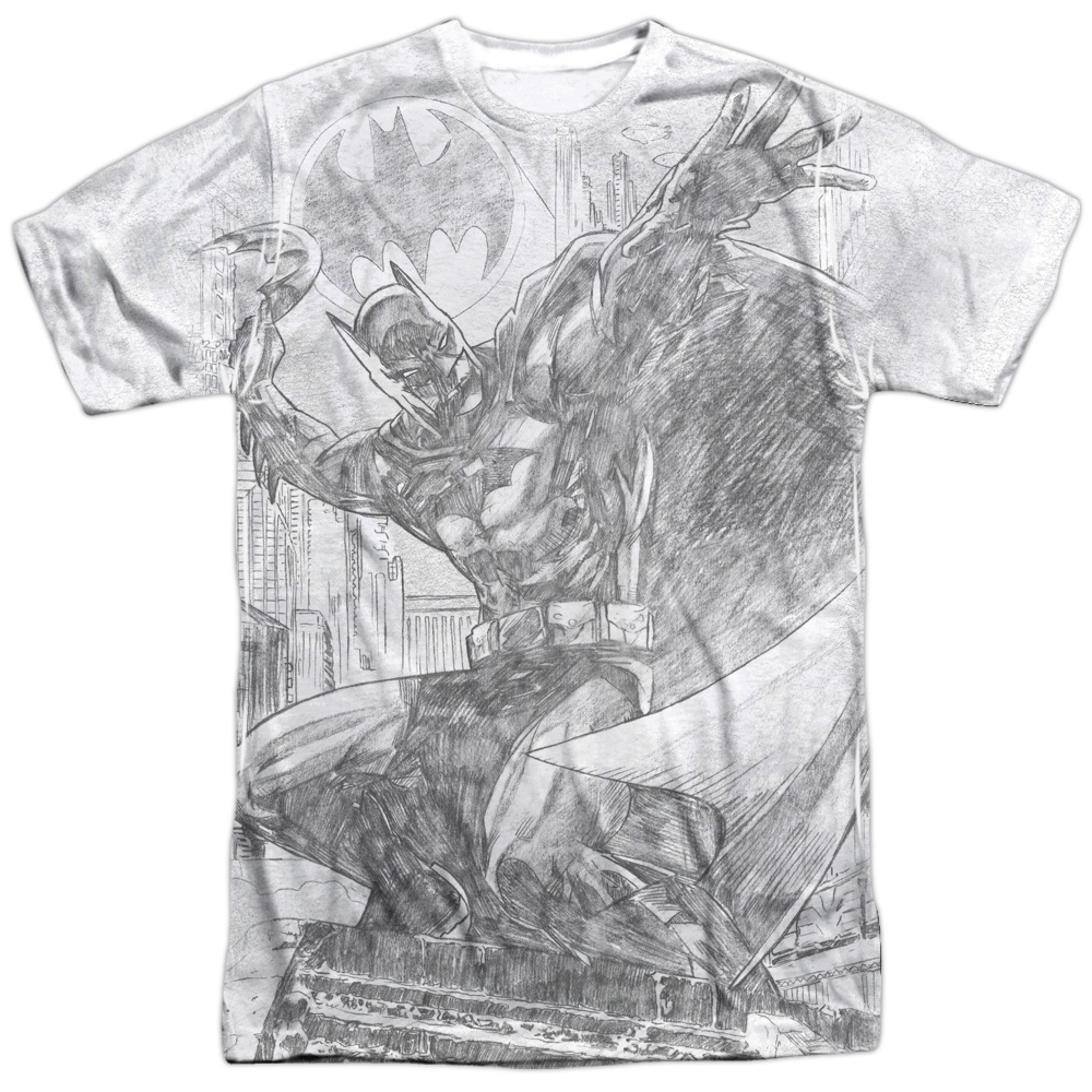 Batman Pencil Batarang Throw Mens Sublimation Shirt by Trevco