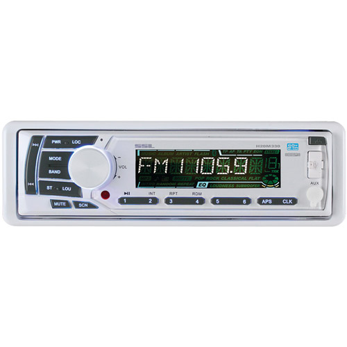 SOUNDSTORM H20M330 Marine Single-DIN CD Receiver with Detachable Face