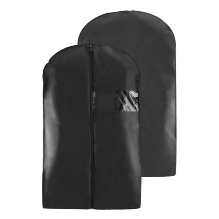 Houseables Black Breathable Suit Carrier Travel Garment Cover Coat Clothes Dress Bag