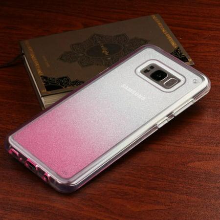 Samsung Galaxy S8 Case, by Insten Gradient Sheer Glitter Premium TPU Candy Skin Case For Samsung Galaxy S8 - Black - image 1 of 6