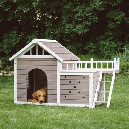 Boomer George Beacon Dog House With Sunning Side Deck