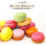 Andy Anand French Macarons 12 Pcs Made Fresh Daily, Free Air Shipping, Gift Boxed & Greeting Card, Delicious, Succulent, Divine Birthday Valentine Christmas Holiday Anniversary Mothers Father's Day