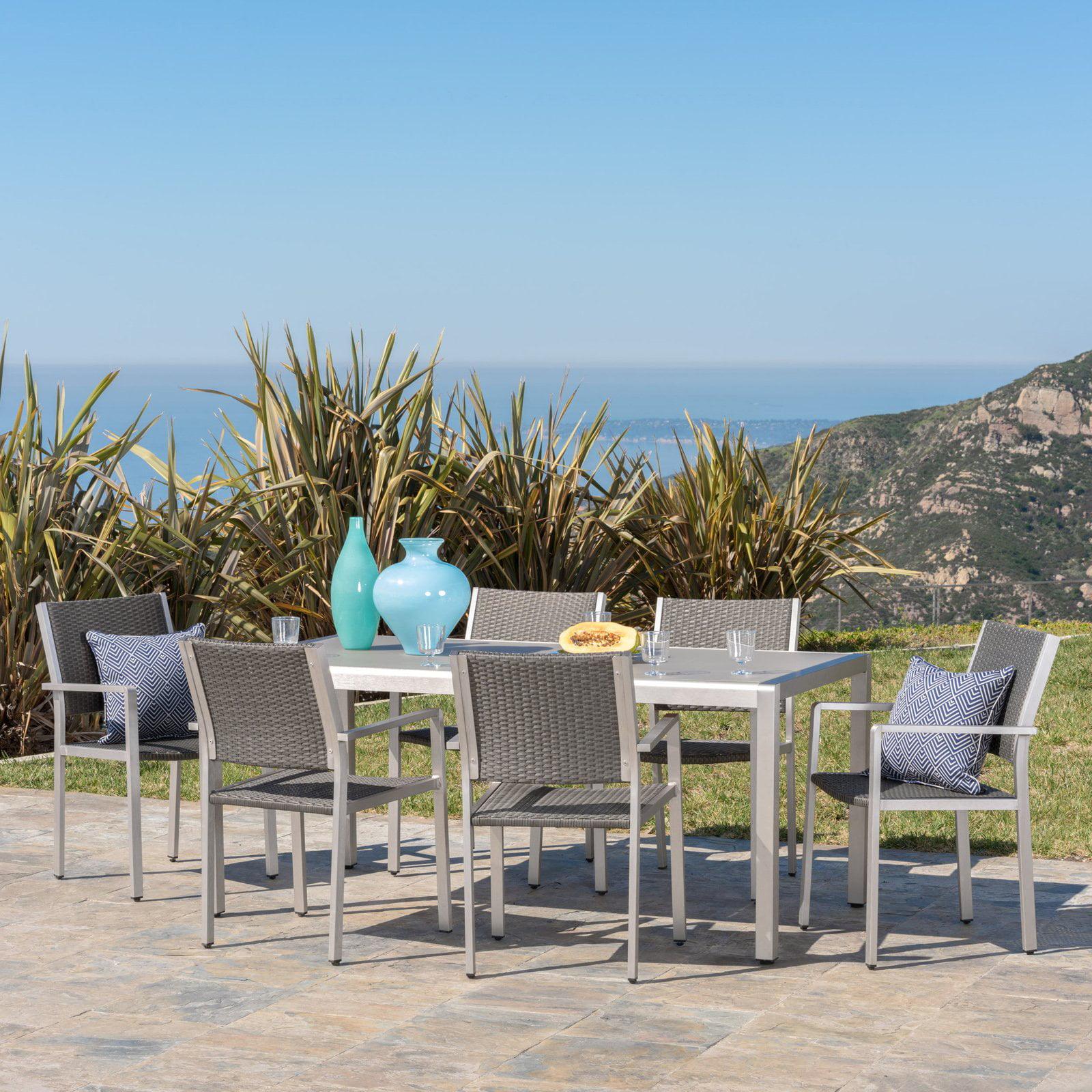 Cape Coral Aluminum 7 Piece Outdoor Dining Set