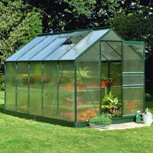 Halls Popular Green 6 x 10-Foot Greenhouse