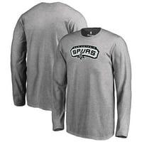 San Antonio Spurs Fanatics Branded Youth Primary Logo Long Sleeve T-Shirt - Gray