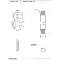 Westbrass Ceiling Mounted Shower Arm with Flange