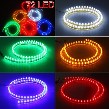 28.4 inch LED Strip Lights,Waterproof Pvc Flexible Strip Lights Color Changing LED Strip Light Kit for Motorcycle Grill Car Auto Lighting Lamp