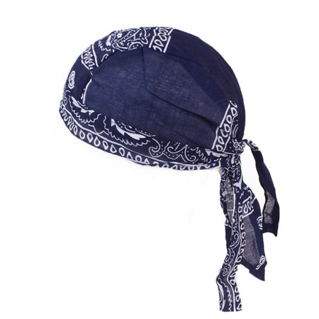 Adult Cotton Biker Skull Cap Motorcycle Bandana Head Wrap Du Doo Do Rag Cool (Motorcycle Due Rags)