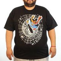 Spiderman Spider's Web Black T-Shirt- Medium