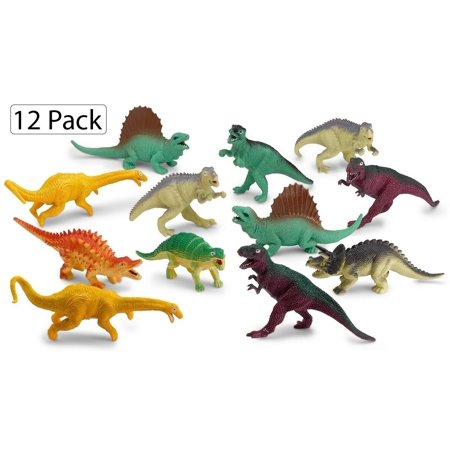 "Dinosaur Figures, Medium Size Realistic Looking Dinosaurs, 5.5""-6.5"" In Assorted Colors For Boys & Girls. Fun Toy, Gift, Prize. Perfect Classroom Entertainment & Educational Party Decoration–By Katzco - Party City For Boys"