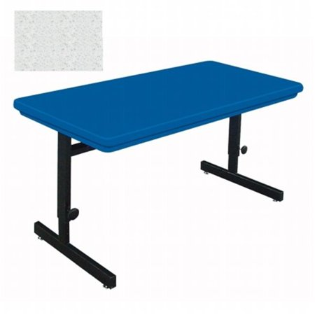Correll Rcsa BlowMolded Plastic Top Computer And Training - Adjustable height training table