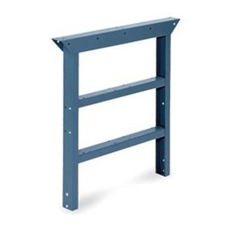"EDSAL PL3503B Premier-Quality Heavy-Duty Workbench Legs, 30"" D, 30-34"" H, Blue"