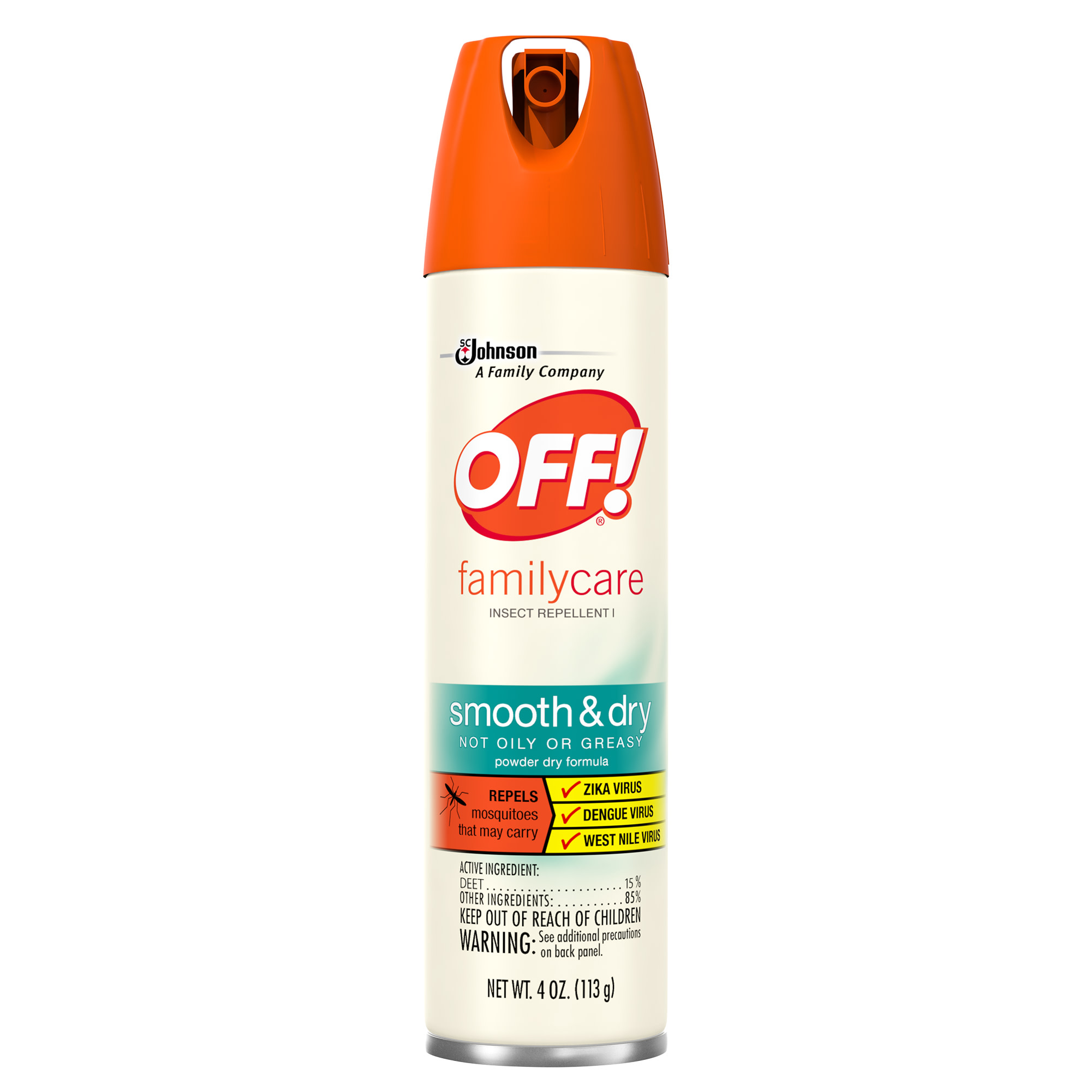 OFF! FamilyCare Insect Repellent I, Smooth & Dry, 4 Ounces, 1 count
