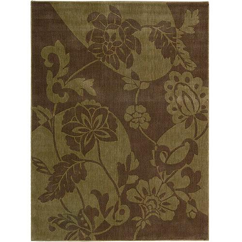 Nourison Somerset ST67 Woven Polyacrylic Rug, Brown