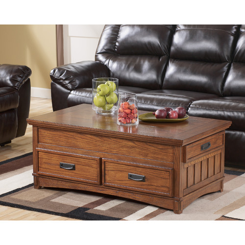 Loon Peak Barrett Trunk Coffee Table With Lift Top