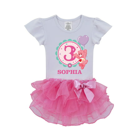 Personalized Care Bears Ready Set Fun Birthday Toddler Tutu Shirt - 2T, 3T, 4T, 5/6T](Personalized Dress)