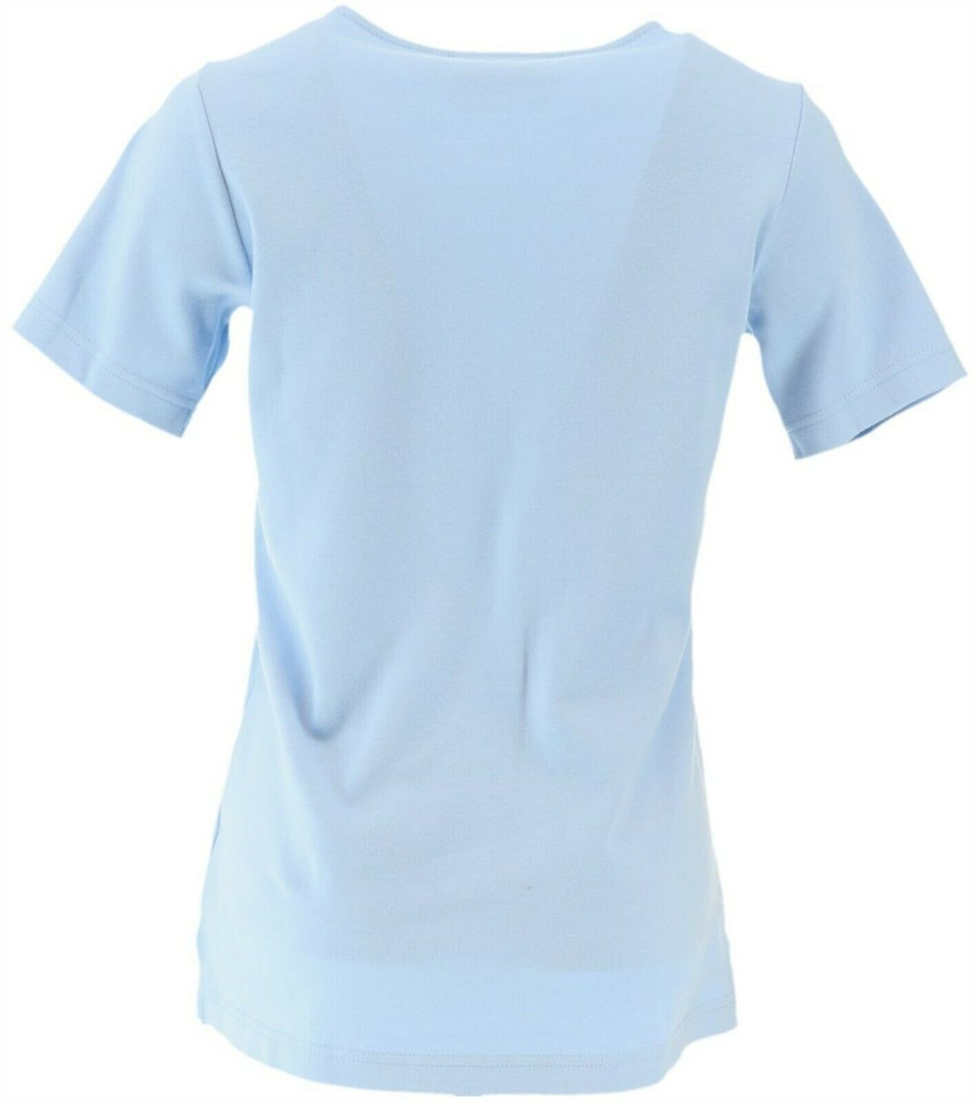 Quacker Factory Set Two Sparkle Shine T-shirts Pale Blue Lime S NEW A262867