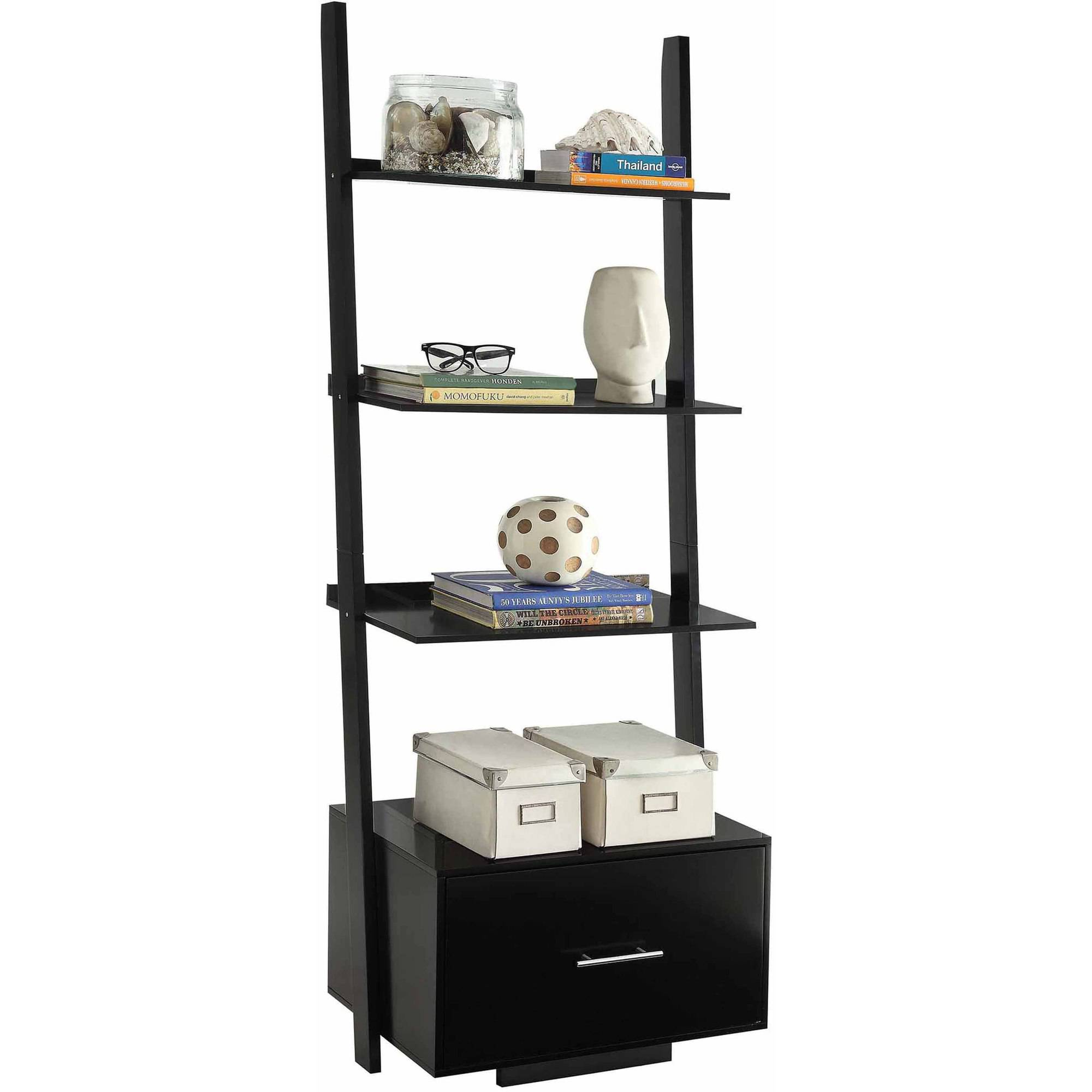 shelf ladder normandy l walmartcom bookcase walmart bookcases wyndenhall