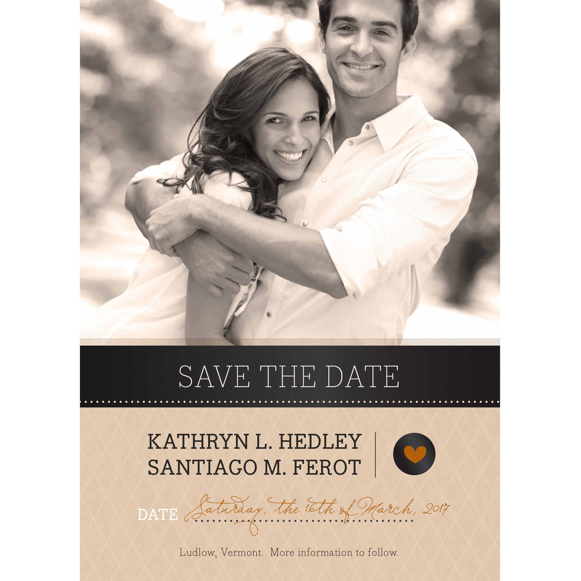 Rustic Tag Standard Save the Date