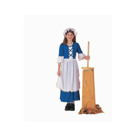 COSTUME-CH.COLONIAL GIRL MEDIU (Girls Bat Girl Costume)