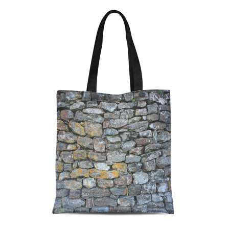 Detail Hobo Handbag (LADDKE Canvas Tote Bag Gray Abstract Stones Aging Black Building Bumpy Countryside Detail Reusable Shoulder Grocery Shopping Bags Handbag)