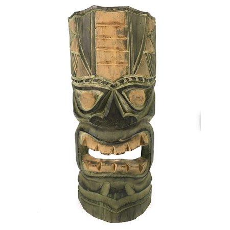 hawaiian tiki mask 12 forest green dpt514030 walmart com