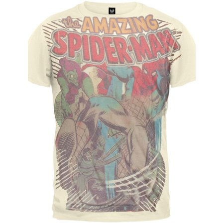 Spider-Man - Villain Battle Subway Soft T-Shirt - Yellow Spiderman