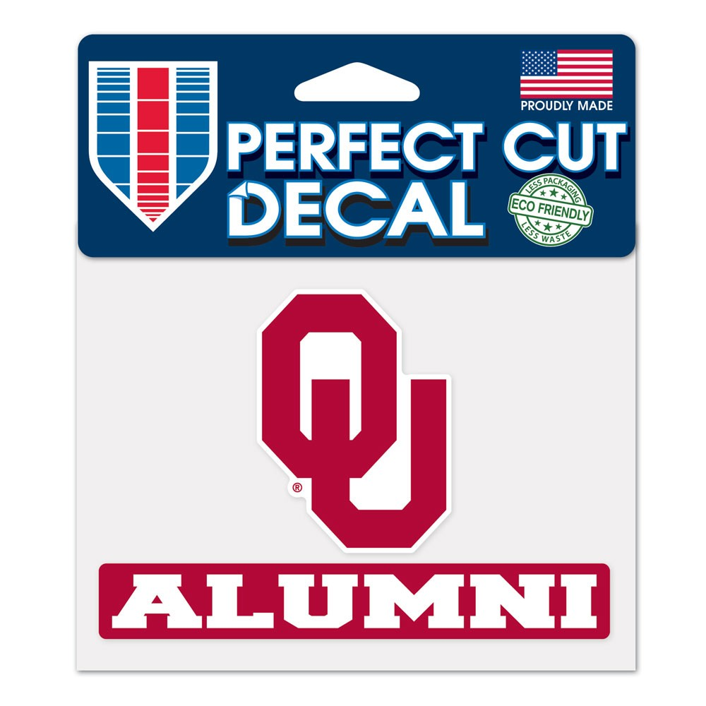 Oklahoma Sooners Official NCAA 4 inch x 5 inch Die Cut Car Decal by ...