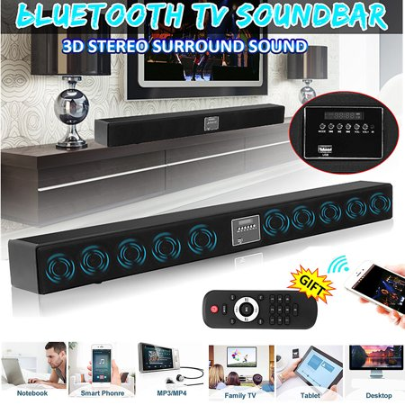 Hi Fi Rim - CLSS-D 10 Speaker Powerful Wireless h Hifi Stereo Audio Home Theater TV Soundbar 3D Surround Music Player Speaker Subwoofer + Remote U-disk SD for PC Cellphone Desk