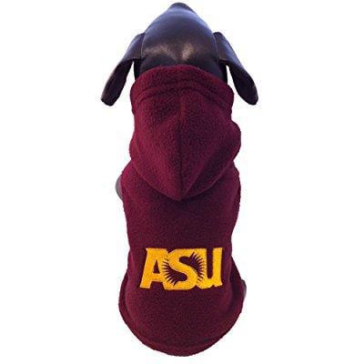 ncaa arizona state sun devils polar fleece hooded dog jacket, (Hooded Polar Dog Fleece)