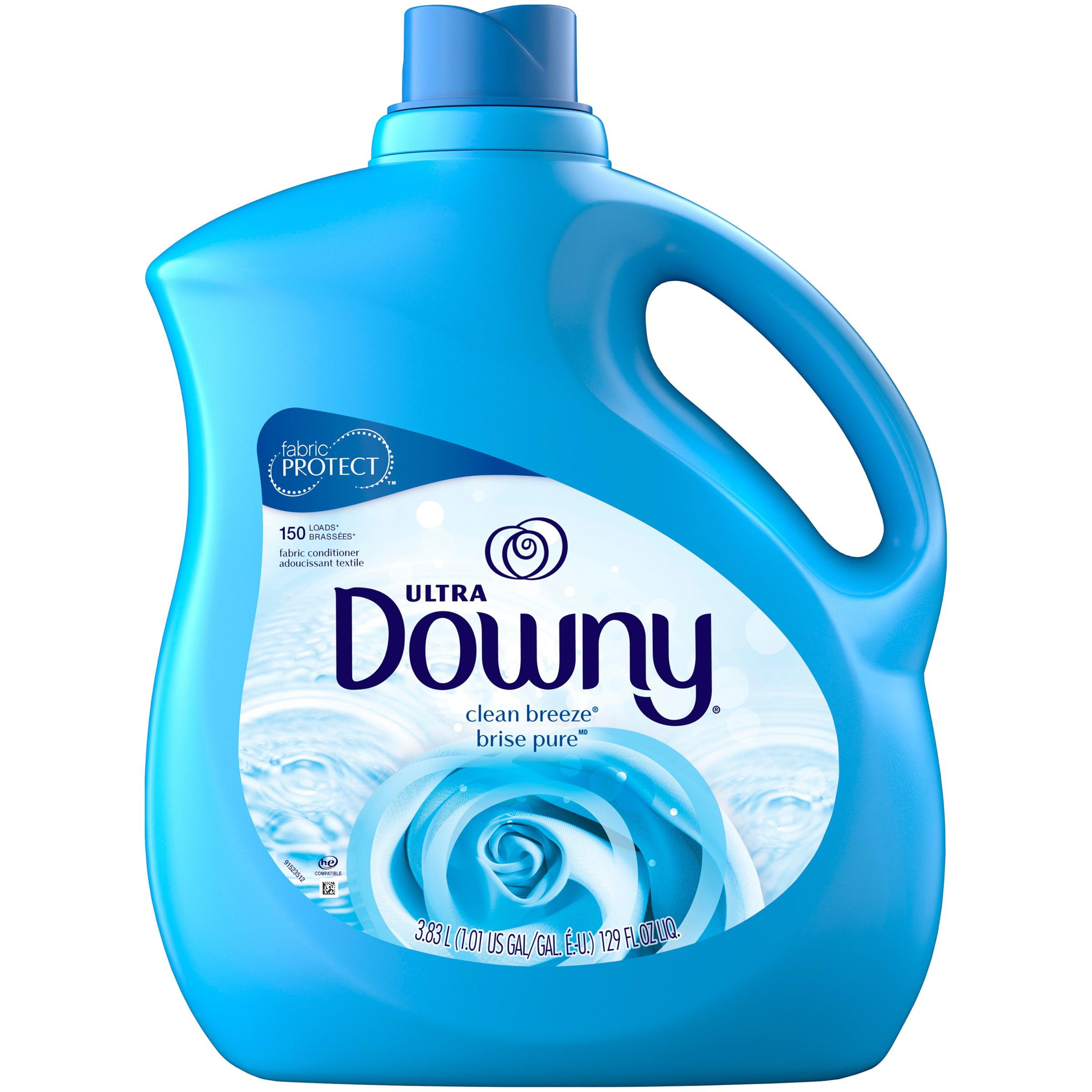 Downy Ultra Liquid Fabric Conditioner, Clean Breeze, 150 Loads 129 fl oz