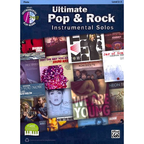 Ultimate Pop & Rock Instrumental Solos: Flute, Level 2-3