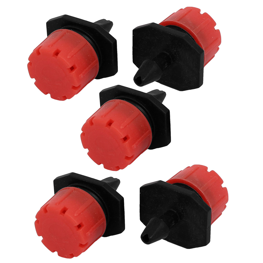 Plastic 8 Holes Adjustable Dripper Misting Irrigation Spray Nozzle 5pcs by