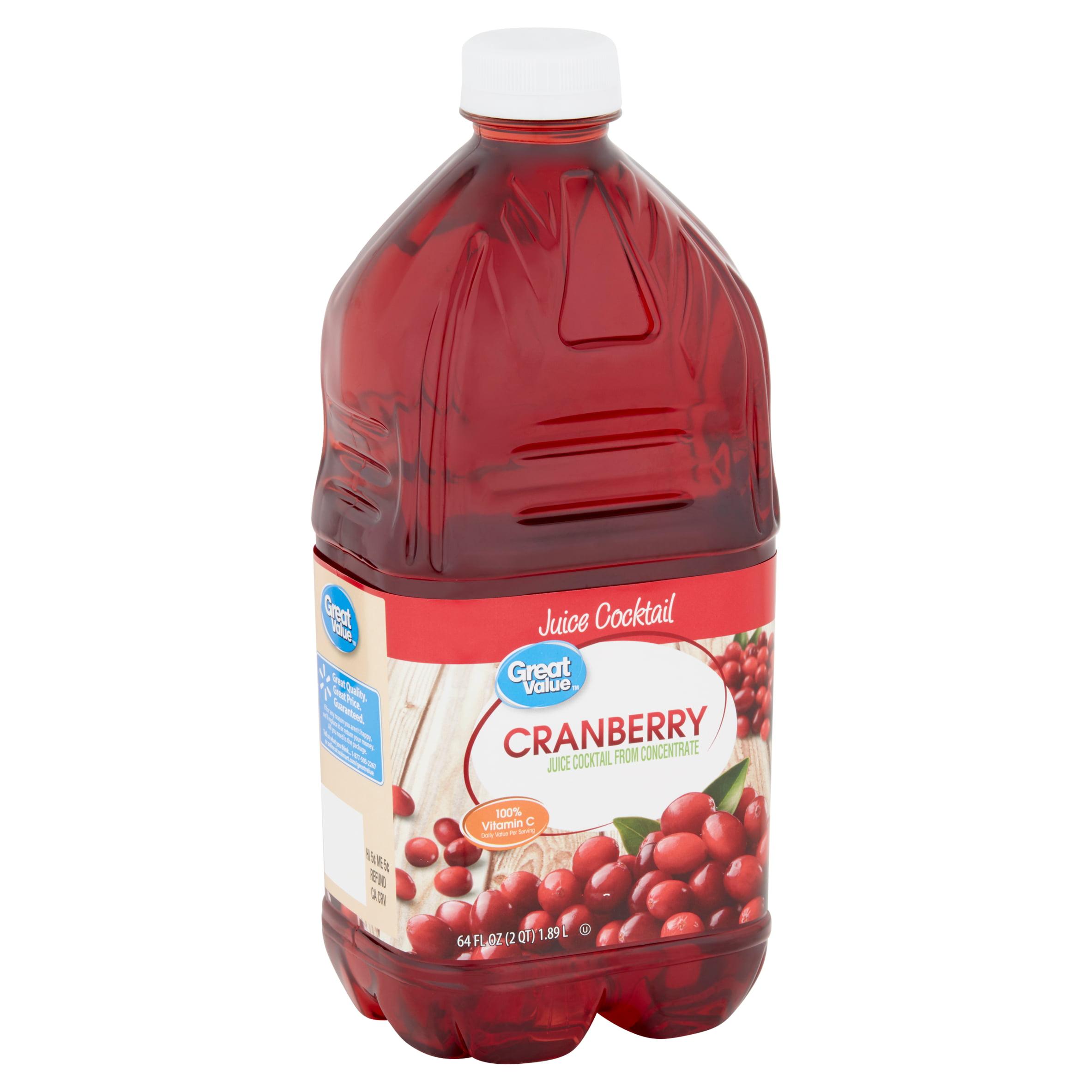Great Value Cranberry Juice Cocktail 64 Fl Oz Walmart Com Walmart Com