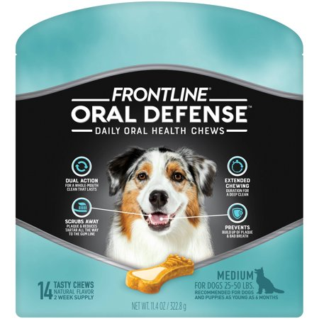 Frontline Oral Defense Dental Chews for Medium Dogs, 14