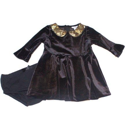 Hartstrings Infant Girls Velvet Dress and Diaper Cover (Hartstrings Ladybug)