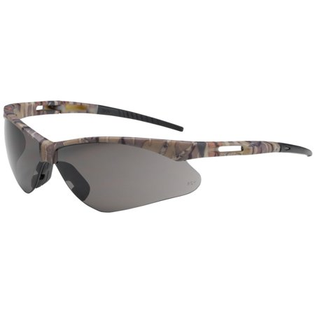 Bouton Anser Safety Glasses with Camouflage Frame and Gray (Oakley M Frame Safety Glasses)