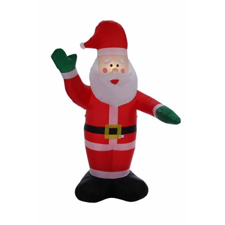 Homegear 8 ft Christmas Inflatable Santa Claus Air Blown Yard Decoration](Spongebob Inflatable Christmas)