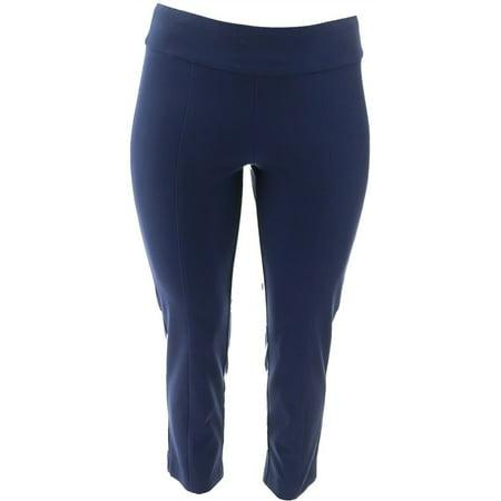 Isaac Mizrahi Petite Wide Waistband Ankle Pants Women's A353847 Womens Wide Waistband Pants