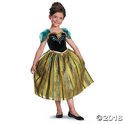 Girl's Frozen Coronation Anna Costume - Medium