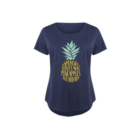 When Life Gives You Pineapples  - Ladies Plus Size Scoop Neck (Plus Pineapple)